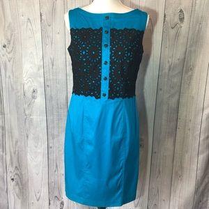 Maggy London Eyelet Overlay Dress